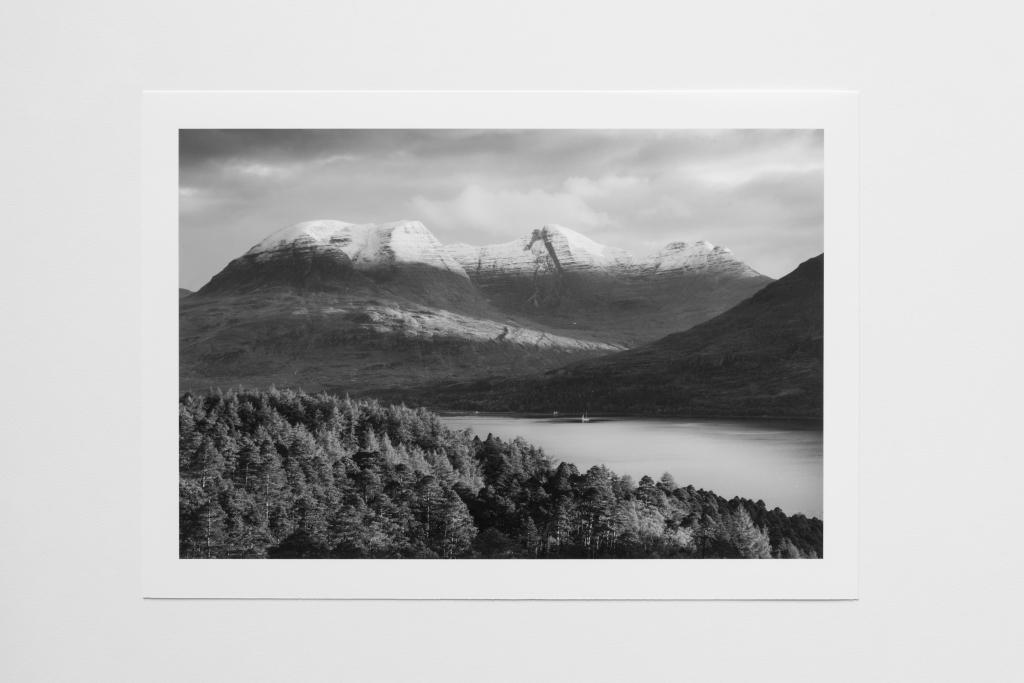 loch mountain pine forest scotland print