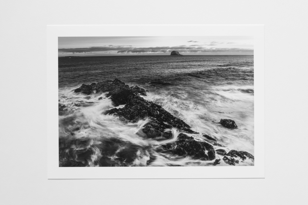 rock outcrop scotland coastline print