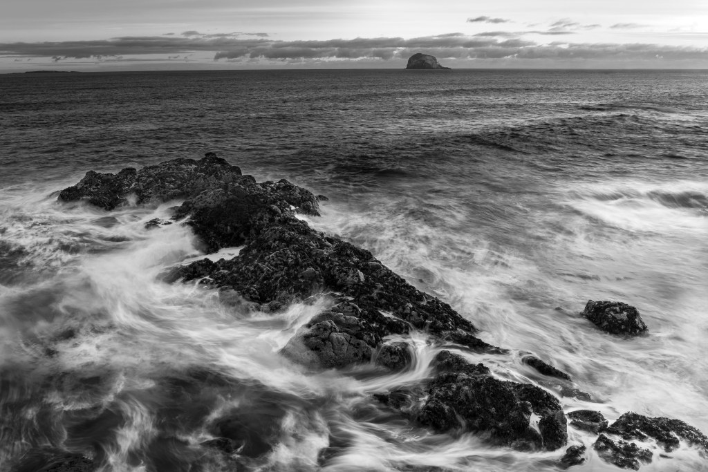rock reef outcrop scotland coastline