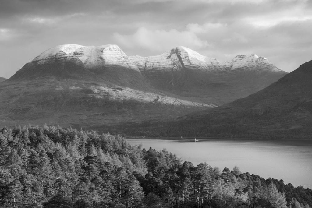 loch mountain pine forest scotland