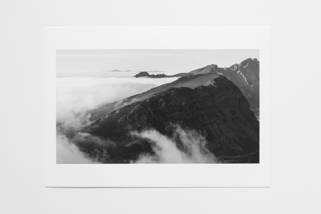 rolling clouds mountain south africa print